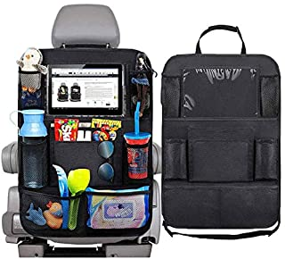 Car Seat Back Organiser Tidy Organizer Travel Kid Storage Bag Pocket Cup Holder