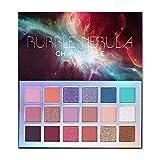 Bubble Nebula Tavolozza di trucco per ombretti 18 colori Smooth Eye Ombretto in polvere Facile da sfumare di lunga durata Elevato pigmento Brillante Opaco Glitter cremoso multi-riflettente vibrante