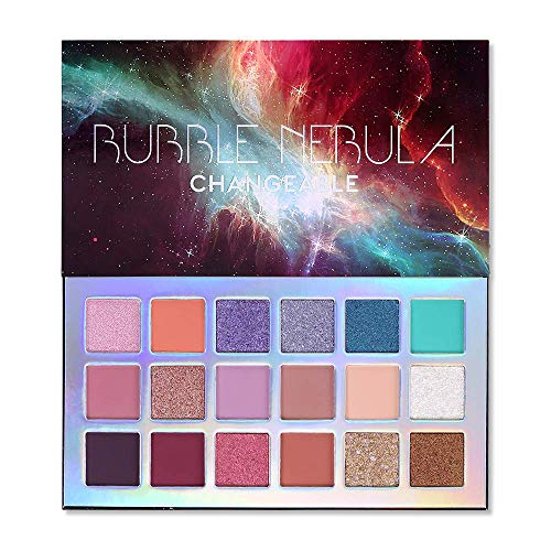 Bubble Nebula 18 Farben Lidschatten Makeup Smooth EyeShadow Powder Leicht zu mischen Langlebige Palette Hochpigmentierter Schimmer Matte Glitter Multi Reflektierende Cremige Lebendige Augen Shadow