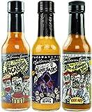 Torchbearer Sauces Hot Sauce Bundle Set, 5 Oz Each: Zombie Apocalypse, Garlic Reaper, & Son of Zombie