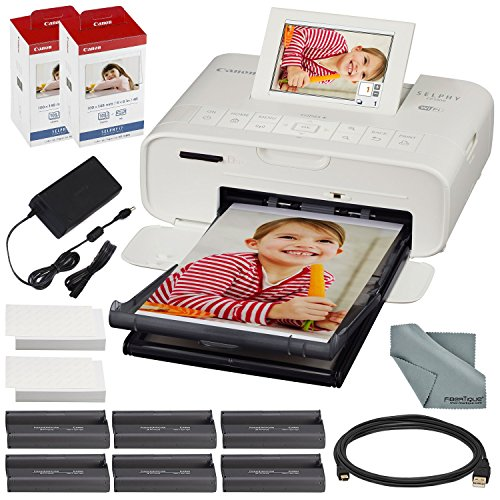 Discover Bargain Canon SELPHY CP1300 Compact Photo Printer (White) with WiFi and Accessory Bundle w/...