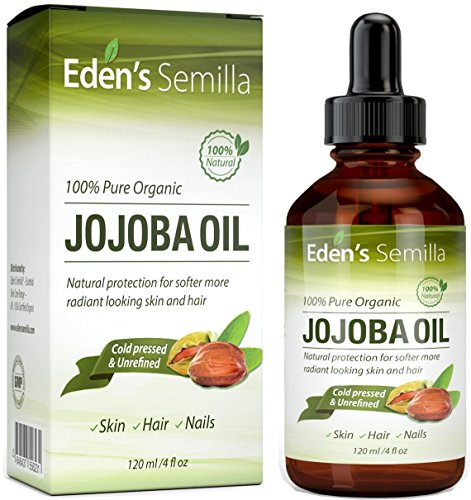 of moisturizer oil for face skins Jojoba Oil 4 OZ – Certified ORGANIC 100% Pure – Best Oil Moisturizer for Radiant Looking Skin, Silky Smooth Hair and Strong Nails – Ideal For Sensitive Skin