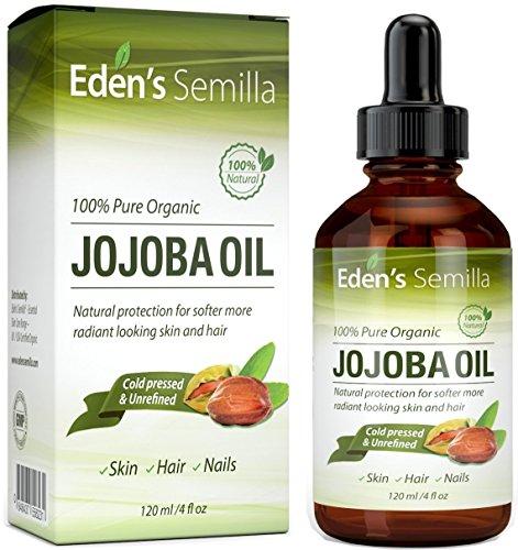 100% Pure Jojoba Oil – 2OZ – Certified ORGANIC – Best Natural Oil Moisturizer for Radiant...