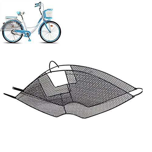 MILECN 2 uds, Red de protección para Asiento Trasero de Bicicleta, Accesorios de Bicicleta para protección de Seguridad para niños, Protector de pie, Metal-Negro