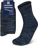 Polar Husky 3 Paar Sehr warme Socken mit Vollplüsch & Schafwolle/Nie wieder kalte Füße! Farbe Vollplüsch/Wolle/Dunkelblau Größe 43-46