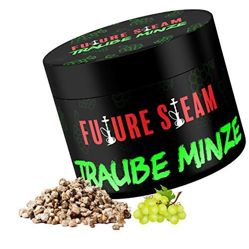 Futuresteam Dampfsteine in verschiedenen Geschmacksrichtigungen 150g, Shisha Steine mit langanhaltendem Geschmack, Wasserpeifen Geschmacksteine (Traube- Minze)