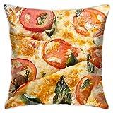 Picca Pomidory Syr Makro - Funda de cojín decorativa para el hogar, sofá, cama, coche, 45,72 x 45,72 cm