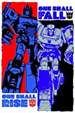 Pyramid America Transformers One Shall Rise One Shall Fall Optimus Prime Megatron Classic Retro Action Figure Toys Cool Wall Decor Art Print Poster 24x36