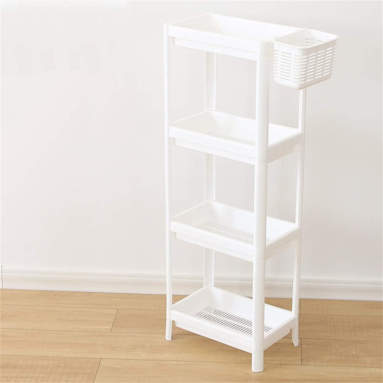 Cqq Shelf Bathroom Shelf Floorstanding Multi-Storey Shelves Plastic Landing Bathroom Storage Shelves (Size   36  100cm)