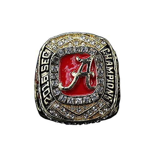 NCAA 2016 Alabama Sec Red Tide Team Championship Ring Campeonato, campeones Anillo de réplica para Aficionados Colección del Regalo,Without Box,11#