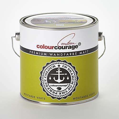 colourcourage L709449L04 Premium matt Moutarde Verte 2,5L bunte Wandfarbe