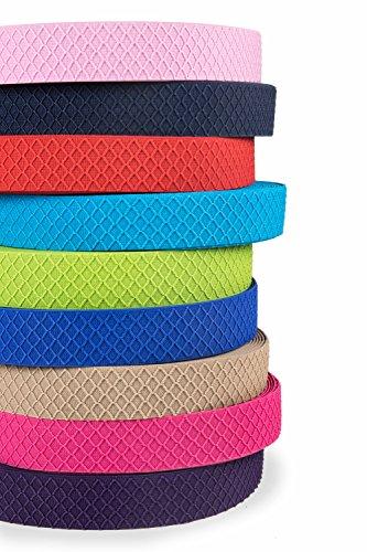 Hochwertiges Gummiband breit 40 mm beidseitig verwendbar | Elastisches Gummiband breit für die Reparatur und Gestaltung von Hosenbändern oder Jogginganzügen | Einfach einen Gummizug nähen (Rot)