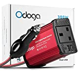 Odoga 300W Car Power Inverter 12V to 240V / 230V Converter With Dual USB 4.8A Charging Ports - Charge Your...