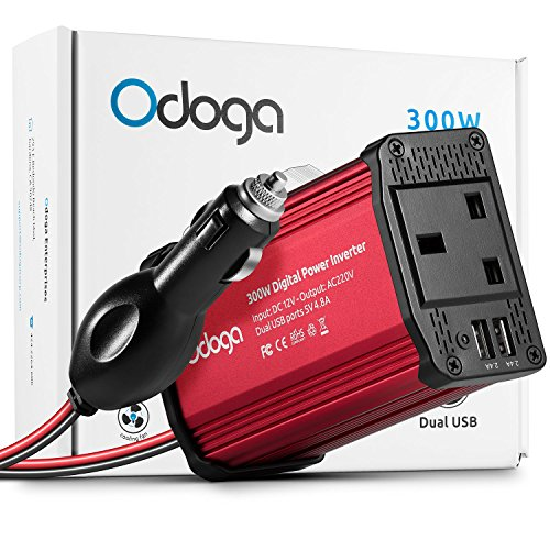 Odoga 300W Car Power Inverter 12V to 240V / 230V Converter With Dual USB...