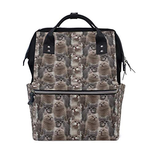 Camo Kitty - Sac à langer mignon pour chat court - Grand sac à langer de voyage pour allaitement - Sac à dos maman
