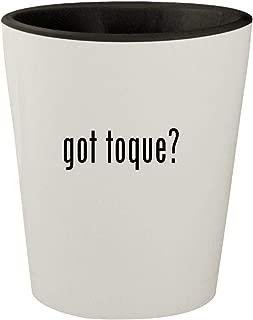 got toque? - White Outer & Black Inner Ceramic 1.5oz Shot Glass
