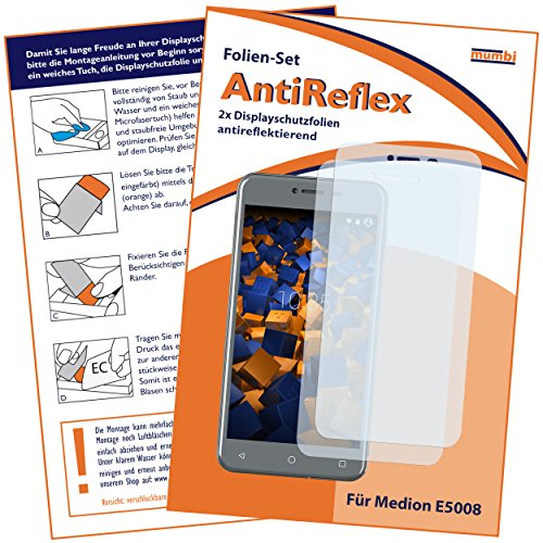 mumbi Schutzfolie kompatibel mit Medion E5008 Folie matt, Bildschirmschutzfolie (2X)