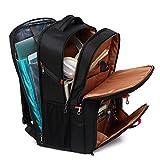 17.3 inch Laptop Backpack, TSA Travel Backpack Large College School Backpack for Men and Women (Black)