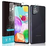 LϟK 5 Pack Protector de Pantalla Compatible con Samsung Galaxy A41 con 2 Pack Cristal Templado y 3 Pack Protector de Lente de Cámara - Sin Burbujas Doble Protección Kit Fácil instalación