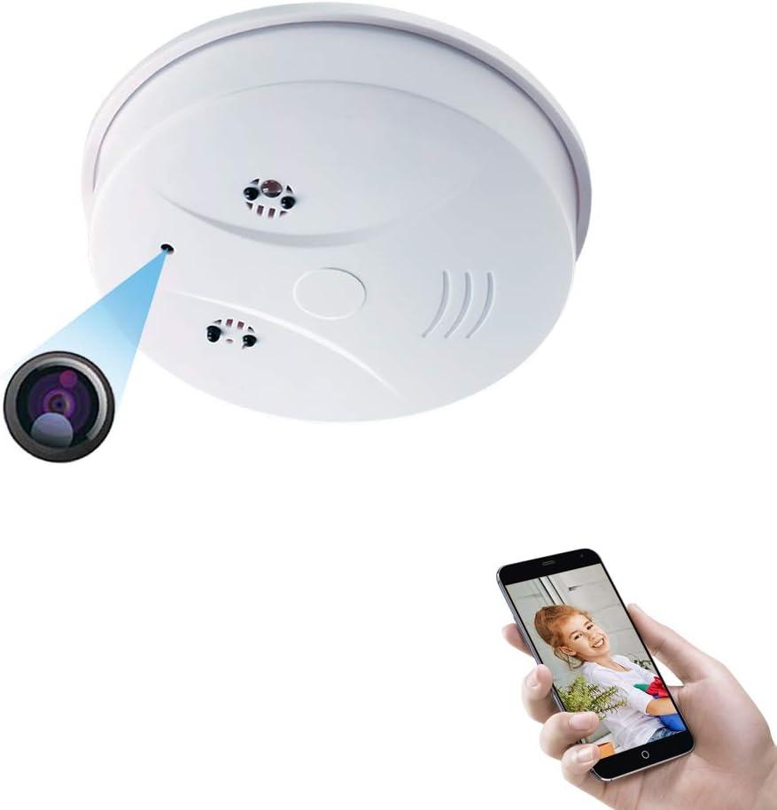 Smoke Detector Camera EOVAS WiFi Spy Hidden Camera HD 1080P Mini Wireless Nanny Cam Support Motion Detection & Night Vision for Home Security Camera