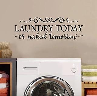 La buanderie citation Citation Vocan de mur Laundry Aujourd'hui ou Nue Demain Tournemine Demanderie Vinyle Étanche Lave-li...
