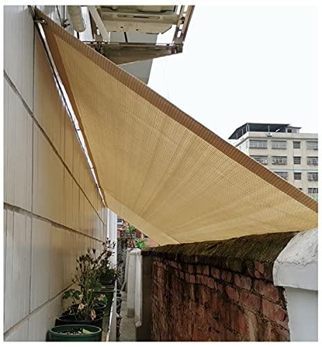 oldo Parasol Vela Rectángulo Transpirable para Terraza Camping Jardín al Aire Libre Protección UV Color Arena 1m,2m,3m,4m,5m Partio(Size:3x3m)