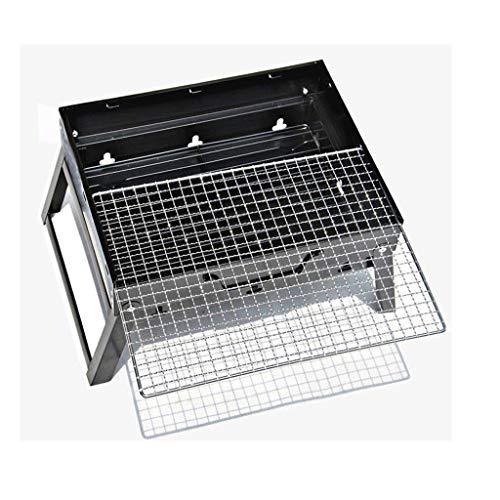51+wqAFFyAL. SL500  - Grills Kochplatten Holzkohlegrill im Freien beweglichen Faltbarer Barbecue Gratis Maschendraht Grillzubehör (Size : M)