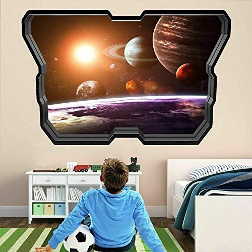 Wall Sticker Planets Space Stars 3D Wall Stickers Decal Poster Kids Room Decor AD53-80x120cm