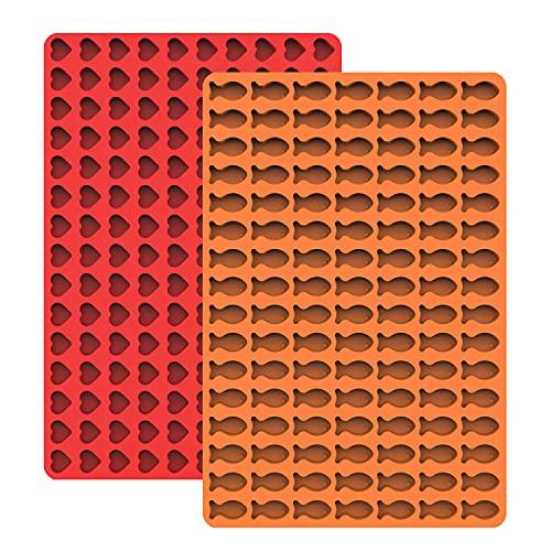 Haidunpin Alfombrilla de silicona, alfombrilla de silicona con botones, molde para galletas y golosinas para perros, papel de hornear, molde para bombones (sin BPA, 2 unidades)