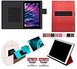 Hülle für Medion LifeTab E10501 Tasche Cover Case Bumper | Testsieger | Rot Leder