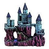 Decoración del acuario, Castillo Resina Acuario Escondite Aqua Ornaments Acuario Peces Tanque Ornamento Decoración, Accesorios del acuario, Muebles del acuario, Detalle realista (tamaño: RQ139B)