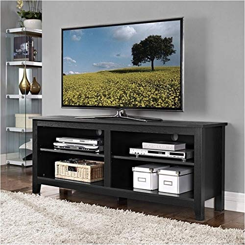 Pemberly Row 58' Wood TV Console in Black
