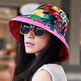 XINQING-MZ Delgado, la tapa se puede plegar la tapa doble cara visor femenino playa hat, escapadas románticas paño verde cap cap cap de sun, color/E