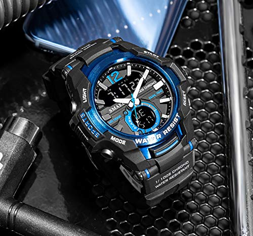 Los hombres Relojes de Moda Deporte de Cuarzo LED Digital Reloj 50M Impermeable Reloj de Pulsera de los Hombres Reloj Relogio Masculino