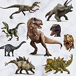 5. Kiddale 3D Dinosaur Kids Peel and Stick Removal Wall Stickers