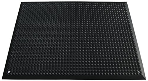 miltex 17061 Bodenmatte Yoga Ergonomie, ESD B1 Ausführung inklusive Ableitkabel, antistatisch und schwer entflammbar, 65 x 95 cm, schwarz