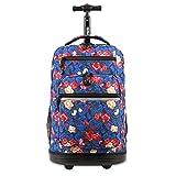J World New York Sundance Laptop Rolling Backpack, Vintage Rose, One Size