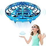 Jasonwell ドローン UFO こども向け おもちゃ ミニドローン ジェスチャー制御 ラジコン USB充電 室内 360度回転 自動ホバリング 障害回避機能 LEDランプ点灯 速度2段調整 子供 誕生日 お祝い 男の子 女の子 3歳 4歳 5歳 6歳 7歳 8歳 9歳 10歳 プレゼント(青)