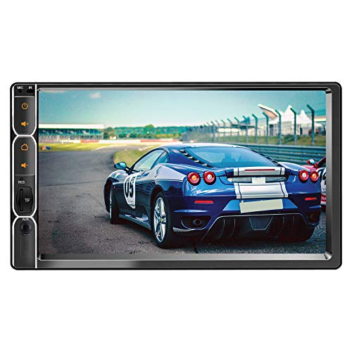 myTVS AV-E1 Double Din Car Audio Video Touch Screen Stereo FullHD with MP3/MP5/USB Player/Bluetooth & Mirror Link for Maruti Swift