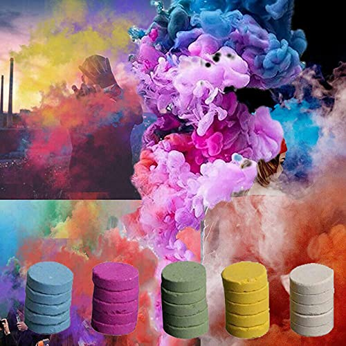 5Pcs Colorful Stage Smoke Props, Stage Performance Photography Movie Background Party Props...