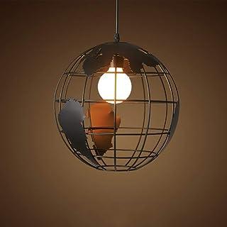 Vampsky Lampe Suspension 28cm Noir/blanc éclairage Intérieur Industriel  Pendentif Vintage Lampes Globe Créatif Terre