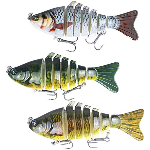 2 PEZZI SLIM SHAD Action Tail Pesce in Gomma
