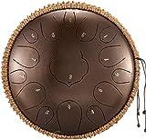 Tambor Handpan, Tambor de acero de percusión |Estándar 15 Notas 12 pulgadas Chakra portátil Tambor Instrumento de percusión |Lotu Handpan Steel Tongue Drum |con bolsa de tambor Mallets |para meditació