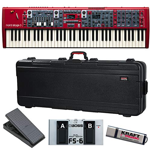 Best Prices! Nord Stage 3 Compact with Gator TSA Case, Expression Pedal, Dual Footswitch, and Flash ...