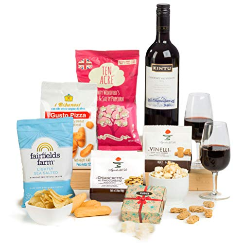 It's Wine O'Clock! Red Wine & Nibbles Gift by Hay Hampers