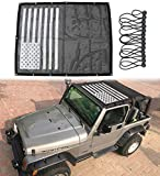 Sukemichi Jeep TJ Mesh Sunshade Bikini Top Cover for Wrangler TJ 1996-2007 Provide UV Protection Soft Top with USA...