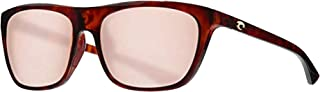 Costa Del Mar Cheeca CHA11OGP Unisex Black Resin Frame Grey Mirror Lens Wrap Sunglasses
