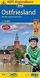 ADFC-Regionalkarte Ostfriesland, 1:75.000, reiß- und wetterfest, GPS-Tracks Download: Mit allen ostfriesischen Inseln (ADFC-Regionalkarte 1:75000)