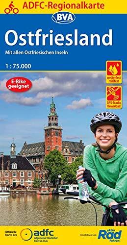 51+wuVKPPtL - ADFC-Regionalkarte Ostfriesland, 1:75.000, reiß- und wetterfest, GPS-Tracks Download: Mit allen ostfriesischen Inseln (ADFC-Regionalkarte 1:75000)