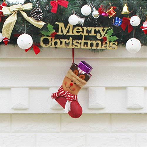 PUBMIND, Supporto per Calze di Natale e Accessori per Feste Marrone